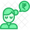 Rupees Woman Conversation Icon