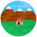 Scenery Rural Area Countryside Icon