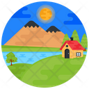 Scenery Rural Place Countryside Icon