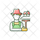 Agriculture Rural Worker Icon