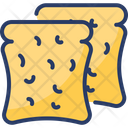 Rusk Baked Wafer Biscuit Icon
