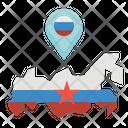 Russia Map Location Icon