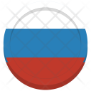 Russia Flag Circle Icon