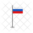 Russia Flag Round Country Icon