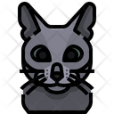 Russian Blue Cat Cat Face Icon
