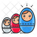 Russian dolls Icon