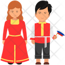 Russian Outfit Russia Clothing Russian Dress Icon