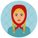Russian Woman Avatar Icon