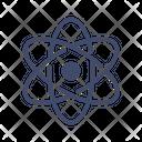 Rutherford Model Atom Nucleus Icon