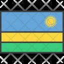 Rwanda African Country Icon