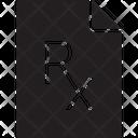 Rx Prescription Pharmacist Doctor Prescriptions Icon