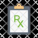 Rx Clipboard Medical Icon