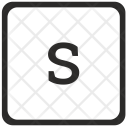 S Lowcase Letter Icon