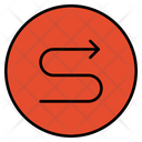 S Shape Route Route Direction Icon