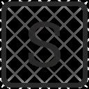 S Uppercase Icon