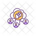 Saas Project Management Cloud Network Icon