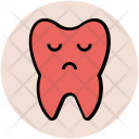 Sad Tooth Face Icon