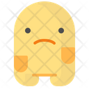 Sad Unhappy Moodless Icon
