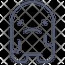 Sad Unhappy Moodless Icon