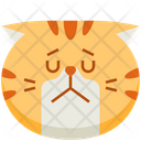 Sad Emoticon Cat Icon