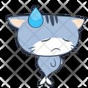 Sweat Sorrow Unhappy Icon