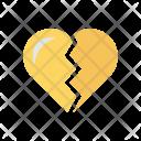 Sad Breakup Heart Icon