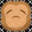 Sad Sleepy Monkey Icon