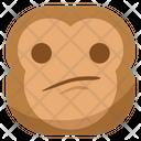 Sad Monkey Emoji Icon