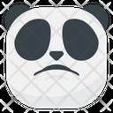 Sad Disappointed Panda Icon