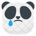 Sad Drop Panda Icon