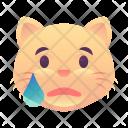 Sad Cat Emoji Icon