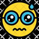 Upset Sad Face Emoticon Icon