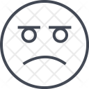 Sad Emoji Face Icon