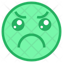 Sad And Angry Icon