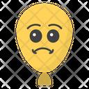Sad Balloon Balloon Face Emoticon Icon