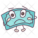 Sad Banknote Currency Money Icon
