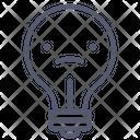 Sad Bulb Sad Bulb Icon