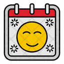 Face Emoticon Calendar Icon