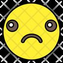 Sad Face Emoticon Smiley Icon