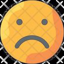 Sad Face Emoji Emoticon Icon