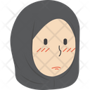 Sad Hijab Girl Icon