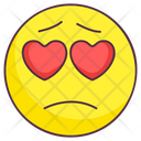 Sad Love Emoji Icon