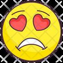 Sad Love Expression Icon