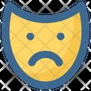 Christmas Mask Sad Icon