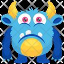 Sad Colorful Ugly Icon