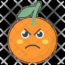 Sad Orange Face Icon