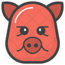 Sad Pig Face Emoji Emoticon Icon