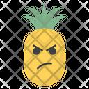 Sad Pineapple Face Icon