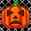 Sad Pumpkin Icon