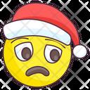 Sad Santa Emoji Icon